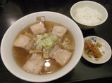喜多方ラーメン 580円 + 無料半ライス