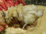 海老の乳麺 海老のアップ