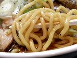 焼豚ソバ 麺のアップ
