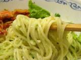 毬藻の雫 麺のアップ