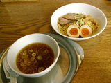 醤油つけ麺 730円 + 味付玉子 by クーポン券