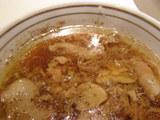 冷し醤油ラーメン スープの表面