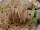 塩ベジタブル 麺のアップ