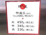 麺の量の告知