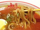 インドラーメン 北極スープ 麺のアップ