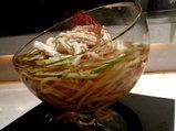 シトラスライムの風 生姜のグラニテ、辛子ムース添え side view