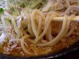ガッツリ味噌カリィー 麺のアップ