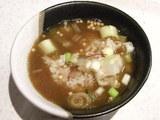 ごはんにスープをかけました。