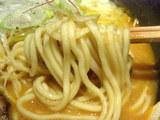 特製味噌 麺のアップ