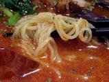 冷やしトマト麺 麺のアップ