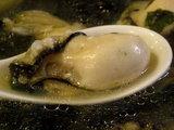 冬かきラーメン 牡蠣のアップ