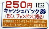 250円キャッシュバック券