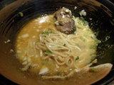 味噌ボナーラ スープ投入