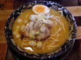 味噌ラーメン 極太麺 750円 + 味玉