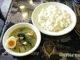 海老と季節の野菜のグリーンカリー900円