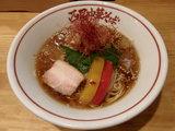 地鶏と鯵煮干の冷や冷や 〜生姜の風味〜 800円