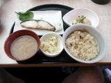すかいらーく 鶏ごぼうご飯と白身魚の西京焼き