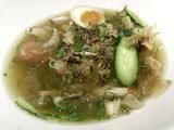 鰹と九条ネギの醤油焼おにぎり スープに投入
