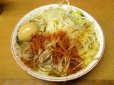 小ラーメン 野菜・ニンニク・トウガラシ 650円 + 味付玉子 100円