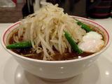 和風黒北極950円 + 野菜大盛 60円 サイドビュー