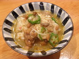 夏羽衣涼麺 ライスにスープをかける