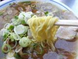 中華そば 麺のアップ
