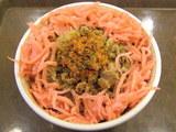 牛丼 肉1.5盛 紅ショウガと七味唐辛子をトッピング
