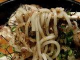 梅乃和え麺 麺のアップ