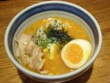 蟹味噌つけ麺〜北海仕立て バターコーンご飯投入。