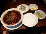 麻辣担担麺ドラゴンの紅い河 ランチセット