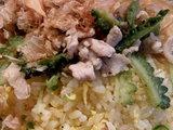 ゴーヤと豚の塩炒めチャーハン アップ画像