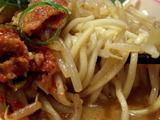ピリポロラーメン 麺のアップ