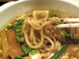 越後味噌剛麺 麺のアップ