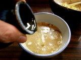 冬の味噌つけ麺 ゆず味噌 スープ割