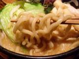 野菜味噌豚骨麺 麺のアップ