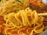 麻辣坦坦麺 麺のアップ