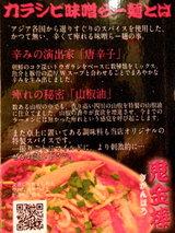 カラシビ味噌らー麺 鬼金棒 説明