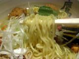 秋寄せら〜麺 麺のアップ