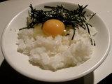 ごはん 150円 + 烏骨鶏の生卵 350円
