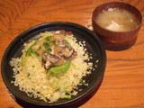 えびと生きの子の蟹あんかけチャーハン A set かに味噌汁付 780円