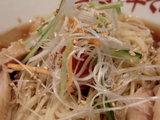 地鶏と鯛煮干の冷や冷や 〜柚子風味〜 アップ画像
