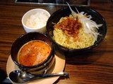 坦々つけ麺 880円 with ランチサービスライス