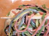 五輪麺 麺のアップ