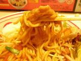 中本チャンプ勇 麺のアップ