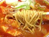 五目蒙古タンメン 麺のアップ