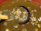 ライスをスープに投入