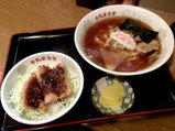 極太麺とソースカツ丼のセット 1130円