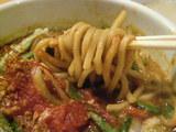 越後味噌激麺 麺のアップ