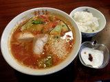 桂花伊太利亜麺 750円⇒690円 + 小ライス + 小デザート