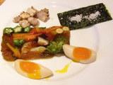 春野菜とアサリの潮らーめん 春野菜のテリーヌ